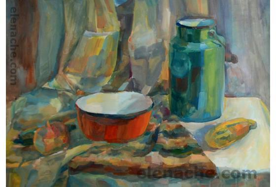 Still life with a can. Elena Che